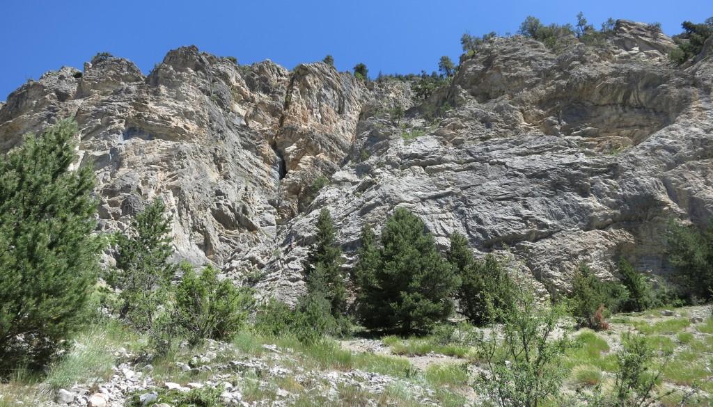Vallée de la Clarée – Paroi de la grotte – Secteur 1