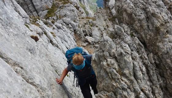 Überschreitung Altmann, weiter zum Jöchliturm und hoch zum Schafberg